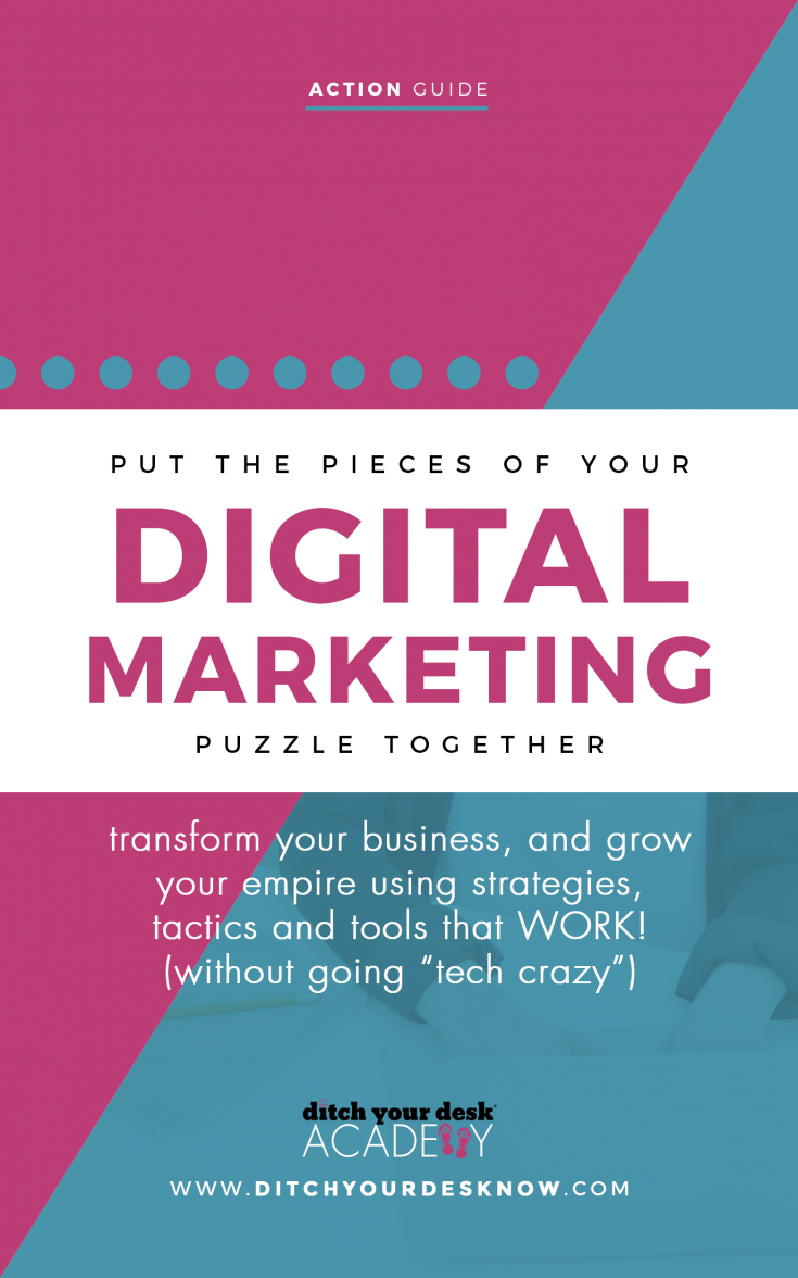 Put the Pieces of Your Digital Marketing Puzzle Together - Go from confused and ready to quit to confident & ready to grow {because marketing your business online doesn't have to be so #@!&! complicated}
