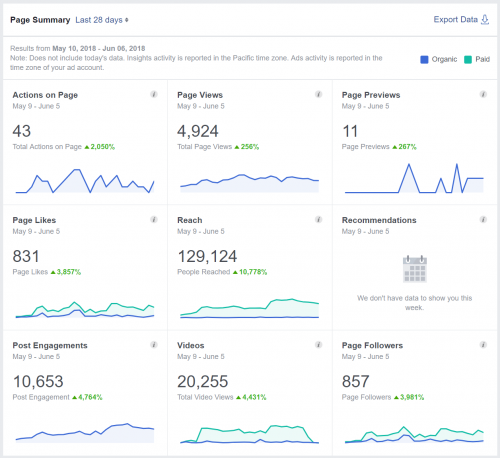 DPS Facebook Page Insights - 28 days